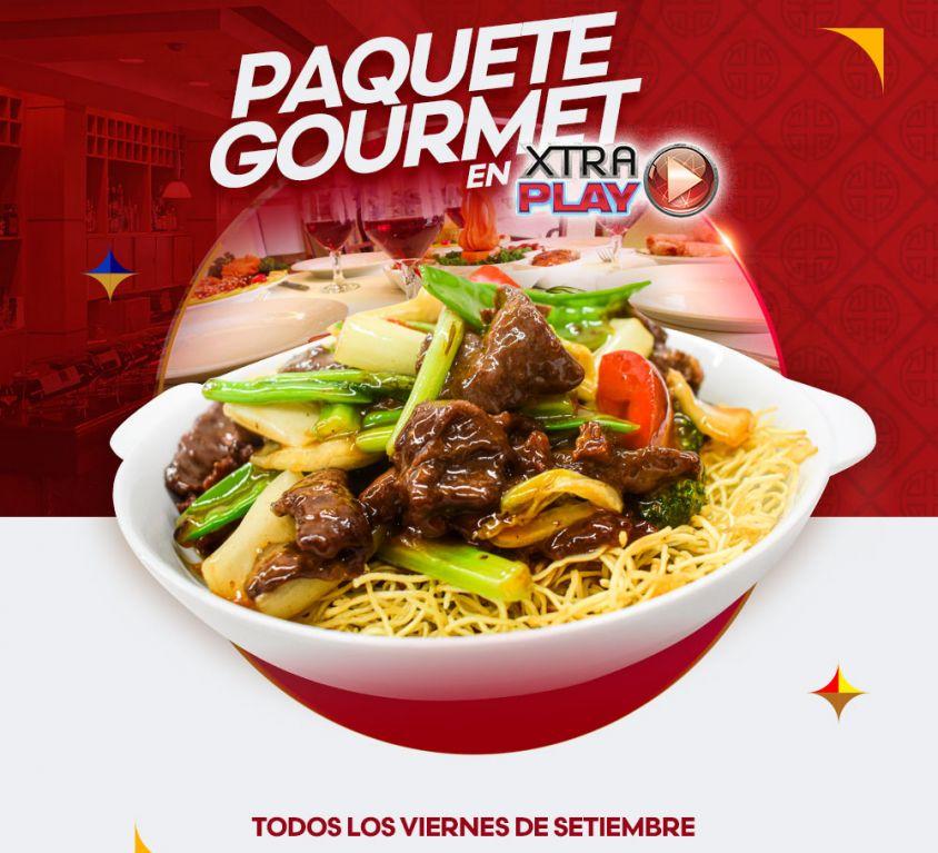 PAQUETE GOURMET DE XTRAPLAY